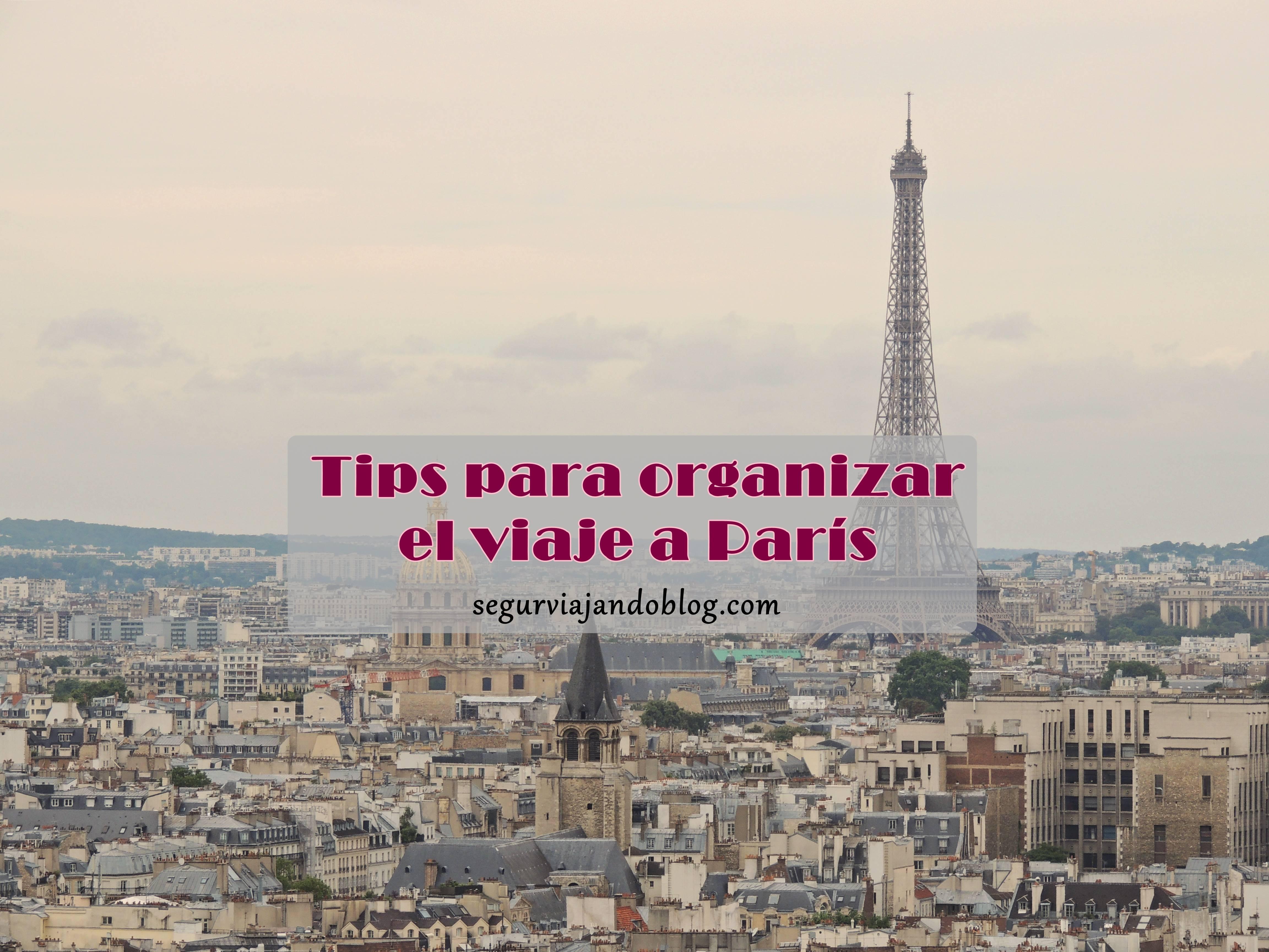 Miniatura organizar viaje a París